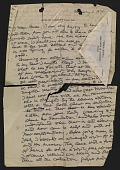 view Jacques Lipchitz, Sardinia, Italy letter to Bruce W. Bassett digital asset number 1