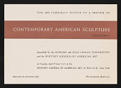 "view ""Contemporary American Sculpture: Selections I and II,"" digital asset: ""Contemporary American Sculpture: Selections I and II,"""