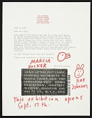 view Ray Johnson mail art to Dr. Frye and Lucy Lippard digital asset number 1