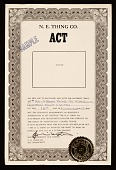 view <em>Aesthetically Claimed Things</em> certificate from the N.E. Thing Co. digital asset number 1