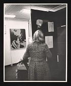 view Unidentified woman at an exhibition of erotic art digital asset number 1