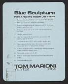 view Blue Sculpture for a White Room, 12 Steps digital asset number 1