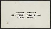 view Edward Ruscha's business card digital asset number 1