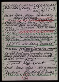 view Hanne Darboven letter to Lucy R. Lippard and Charles Simonds digital asset number 1