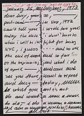 view Hanne Darboven letter to Lucy R. Lippard digital asset number 1