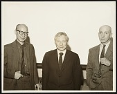 view Michael Loew, Louis Kahn, and George McNeil at the Rutgers State University Symposium digital asset number 1