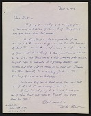 view Michael Loew letter to Willem de Kooning digital asset number 1