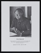 view Program for memorial service for Robert Motherwell digital asset number 1