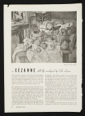 "view One of many articles on Cézanne by Erle Loran, ""A Cézanne still life analyzed by Erle Loran"" <i>American Artist</i>, pp. 20-21 digital asset number 1"