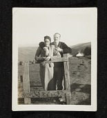 view Erle and Clyta Loran standing at a fence digital asset number 1