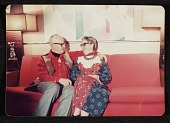 view Erle and Clyta Loran sitting on a couch digital asset number 1