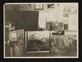 view Erle Loran's paintings in Cézanne's studio, Aix-en-Provence, France digital asset number 1