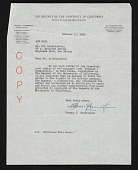view Thomas J. Cunningham, Berkeley, Calif. letter to Roy Lichtenstein, Highland Park, N.J. digital asset number 1