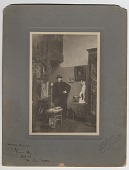 view William Cushing Loring in his studio at 90 Rue d'Assas in Paris, France digital asset number 1