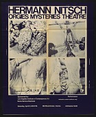 view Exhibition poster for Hermann Nitsch's <em>Orgies mysteries theatre</em> digital asset number 1