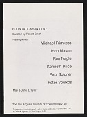view Los Angeles Institute of Contemporary Art exhibit catalog for <em>Foundations in Clay</em> digital asset: cover