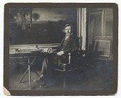 view George Inness seated in his studio digital asset number 1