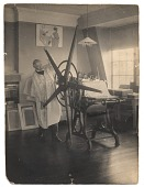 view Joseph Pennell operating a printing press digital asset number 1
