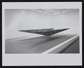 view Photograph of Loren Madsen's sculpture <em>Inverted Pyramid, Floating</em> at Hirshhorn Museum and Sculpture Garden digital asset number 1