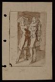 view Sketch of two women in high heels digital asset number 1