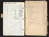 view Reginald Marsh art notebook #4, models and expenses digital asset number 1