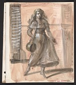 view Sketch of a woman in the street digital asset number 1