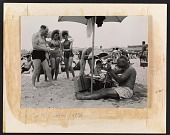 view Reginald Marsh sketching people on the beach digital asset number 1