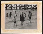 view Reginald Marsh sketching people in the water at Coney Island digital asset number 1