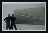 view Richard Marshall and unidentified man with painting digital asset number 1