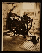 view Elizabeth McCausland at her printing press digital asset number 1