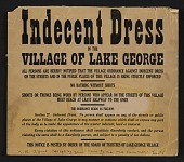view Notice of dress code in Lake George, N.Y., given to Elizabeth McCausland by Alfred Stieglitz digital asset number 1
