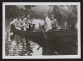 view Alfred H. Maurer and others in a canoe digital asset number 1