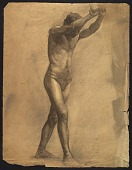 view Sketch of an artists' model holding rope for support digital asset number 1