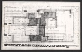 view Photo reproduction of a plan for the Schindler House digital asset number 1