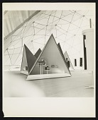 view Interior of Buckminster Fuller's geodesic dome at the Milan Triennale digital asset number 1