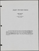 view Notebook, Joseph F. McCrindle Collection Checklist digital asset: Notebook, Joseph F. McCrindle Collection Checklist