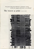 view 'The Weaver as Artist' in Craft Horizons digital asset: page 1
