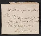 view Clark Mills letter to an unidentified recipient digital asset number 1