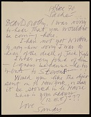 view Dorothy Canning Miller, New York, N.Y. letter to Alexander Calder, Roxbury, Conn. digital asset number 1