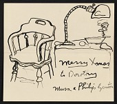 view Philip Guston Christmas card to Dorothy Canning Miller digital asset number 1