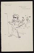 view Caricature of an artist painting while two other people play tennis in the background digital asset number 1