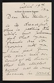 view Mary Cadwalader Jones letter to Lily Millet digital asset: page
