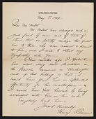 view Henry Bacon letter to Lily Millet digital asset number 1