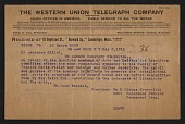 view American Academy and Institute of Arts and Letters telegram to Laurence Millet digital asset number 1