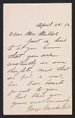 view George Vanderbilt letter to Lily Millet digital asset number 1