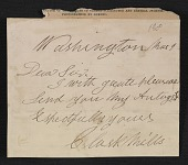 view Clark Mills letter to an unidentified recipient digital asset number 1