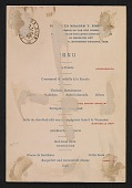 view Lotos Club menu for a dinner in honor of William T. Evans digital asset number 1