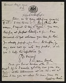 view Francis Seymour Haden letter to Frederick Keppel digital asset number 1