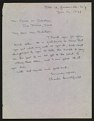 view Charles Burchfield letter to Persis Robertson digital asset number 1