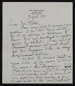 view Elizabeth Robins Pennell, New York, N.Y. letter to G. William Patten, Dorchester, Mass. digital asset: page 3